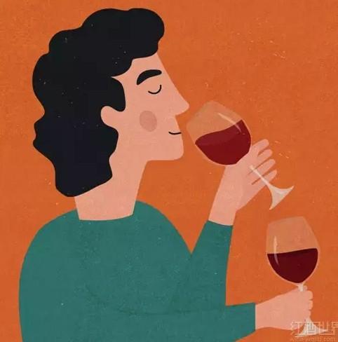 红酒世界 卡通素材